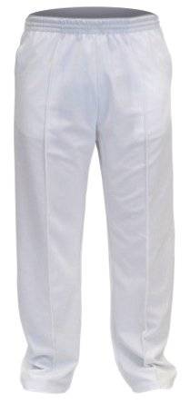 NEWMODEL MENS BOWLING TROUSER CRICKET GOLF TROUSERS WHITE IN SIDE LEGS SIZE 31