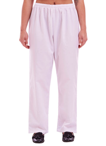 Unisex Medical Scrub Trouser White