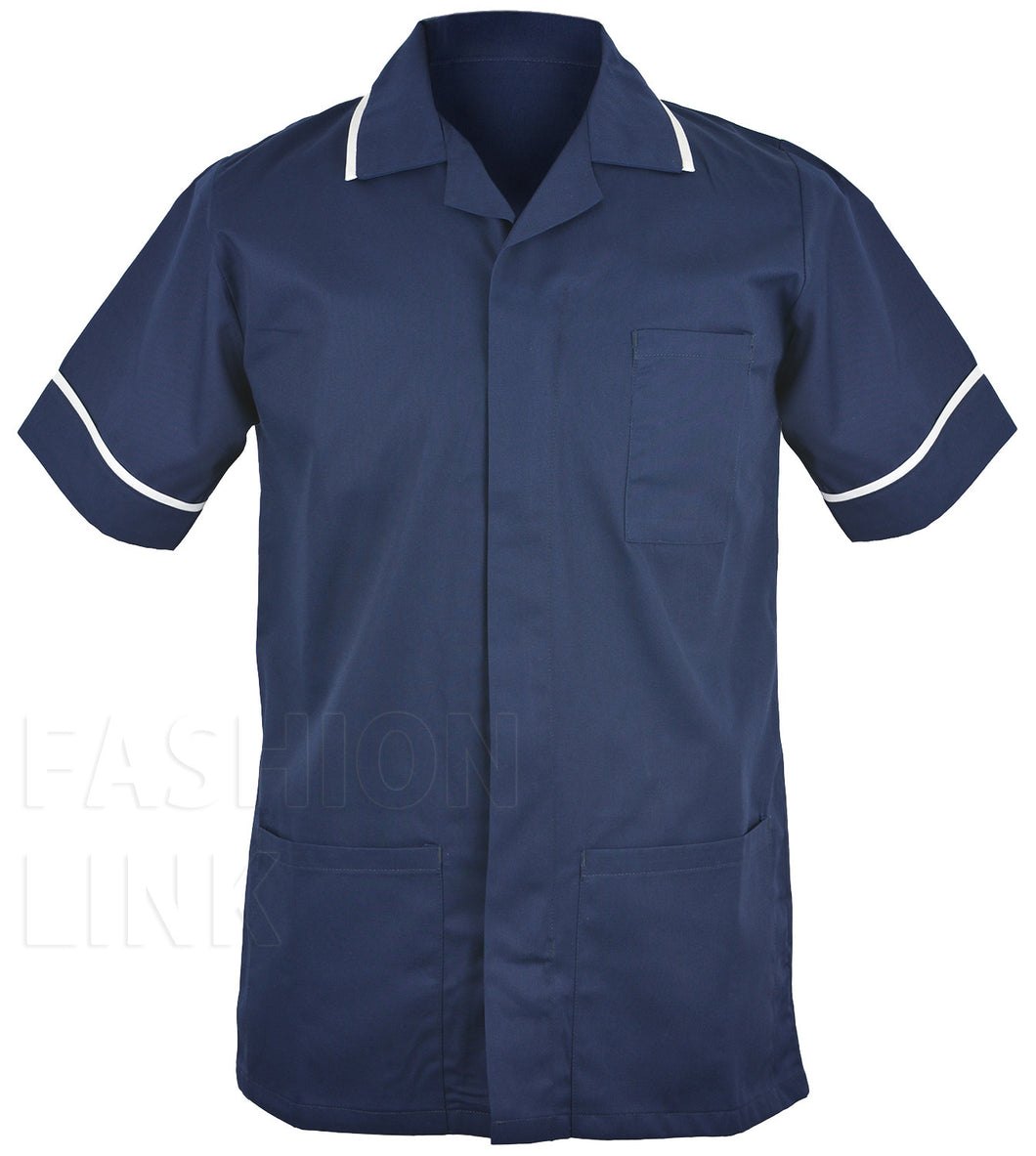 Male Healthcare Tunic FNMT01 Navy/White