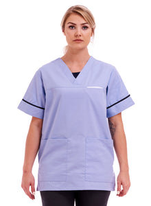 Unisex Smart Scrub Tunic Healthcare Uniform Sky Blue