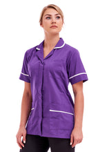 Ladies Round Collar Tunic FNLT05 Purple