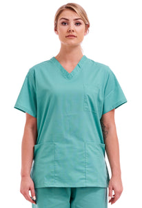 Unisex Medical Hospital Scrub Top Mint