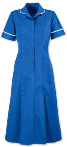 Ladies Round Collar Long dress Tunic Royal Blue