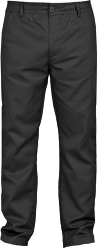 Mens rugby Trouser with Half Elastic Waistband  Inside Leg 31 (32, Black 31