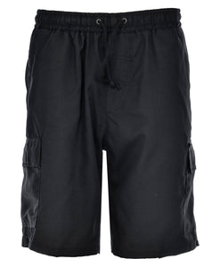 Mens Cargo Combat Shorts Black