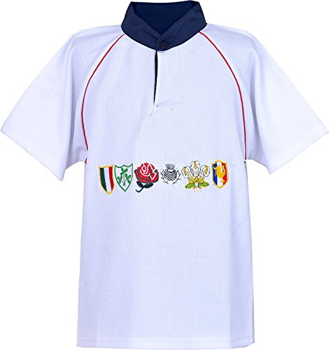 Kid's 6 Nation Half Sleeve T-Shirt (White)