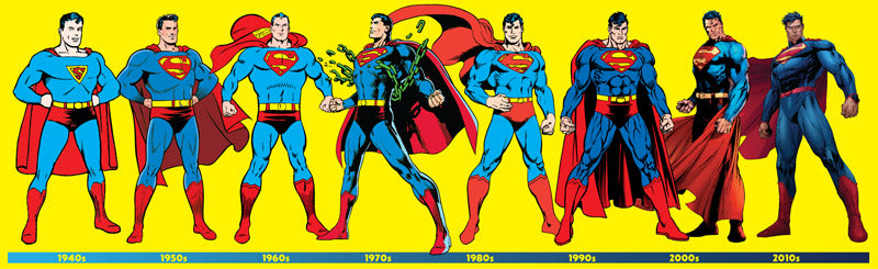 Superman Through Years