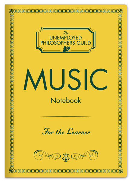 Music Notebook - The Unemployed Philosophers Guild