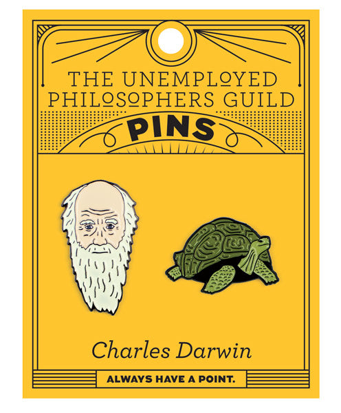 Darwin & Tortoise Pins - The Unemployed Philosophers Guild