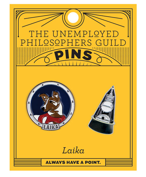 Laika & Sputnik Pins - The Unemployed Philosophers Guild