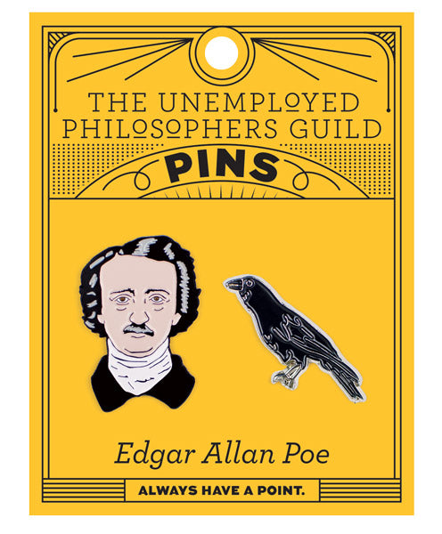 Poe & Raven Pins - The Unemployed Philosophers Guild
