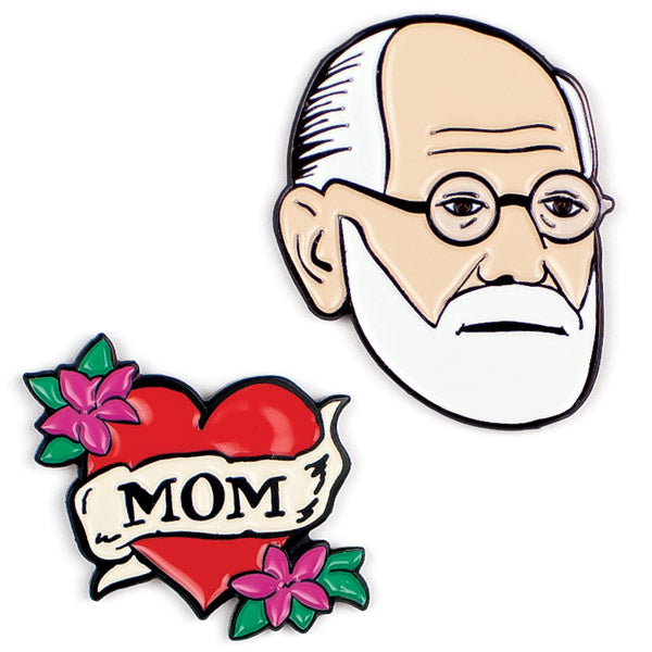 Freud & Mom Pins - The Unemployed Philosophers Guild