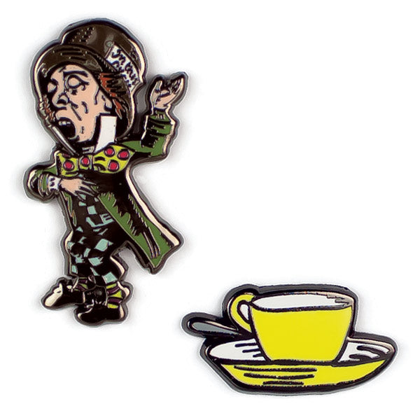 Mad Hatter & Teacup Pins - The Unemployed Philosophers Guild