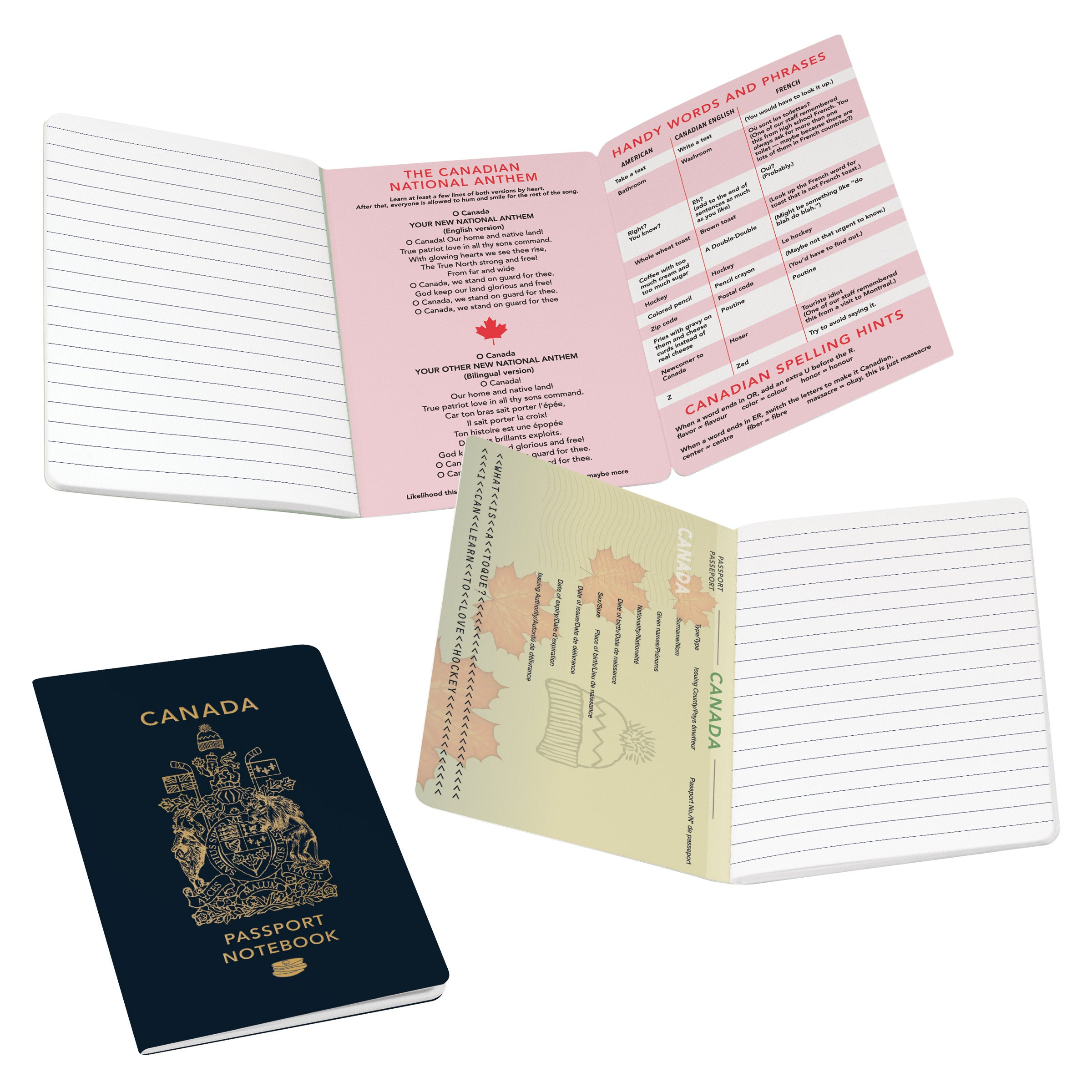 Canada Passport Notebook