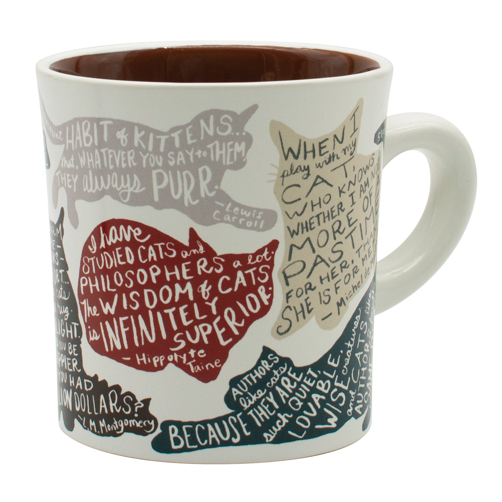 Literary Cat Mug - The Unemployed Philosophers Guild