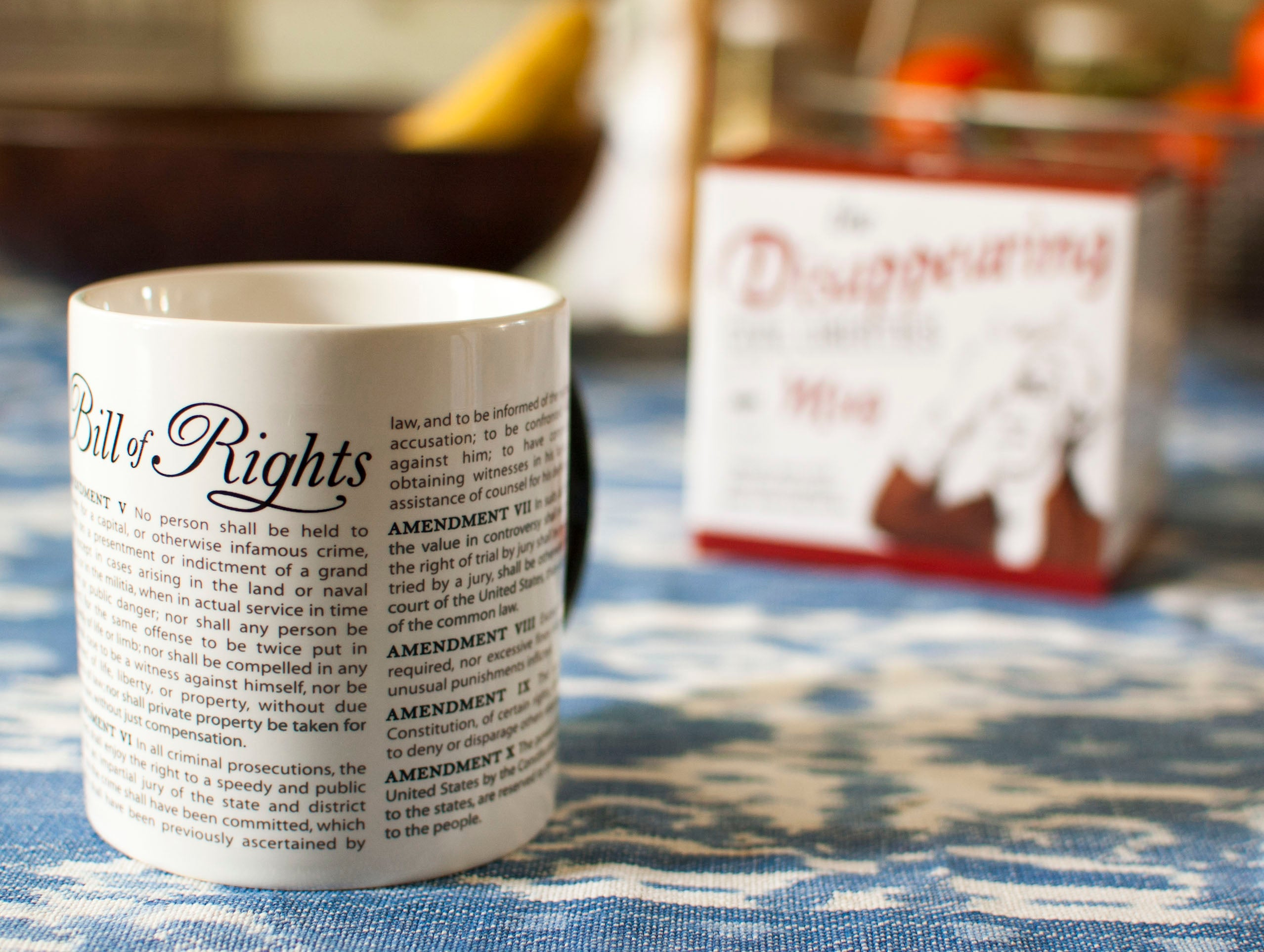 Disappearing Civil Liberties Mug - The Unemployed Philosophers Guild
