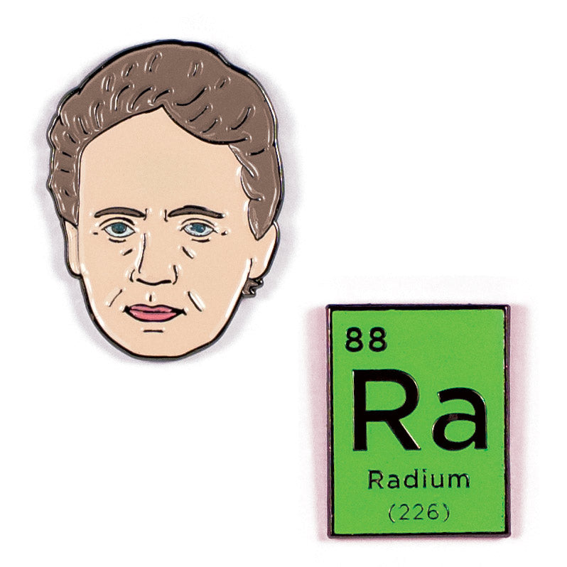 Curie & Radium Pins - The Unemployed Philosophers Guild