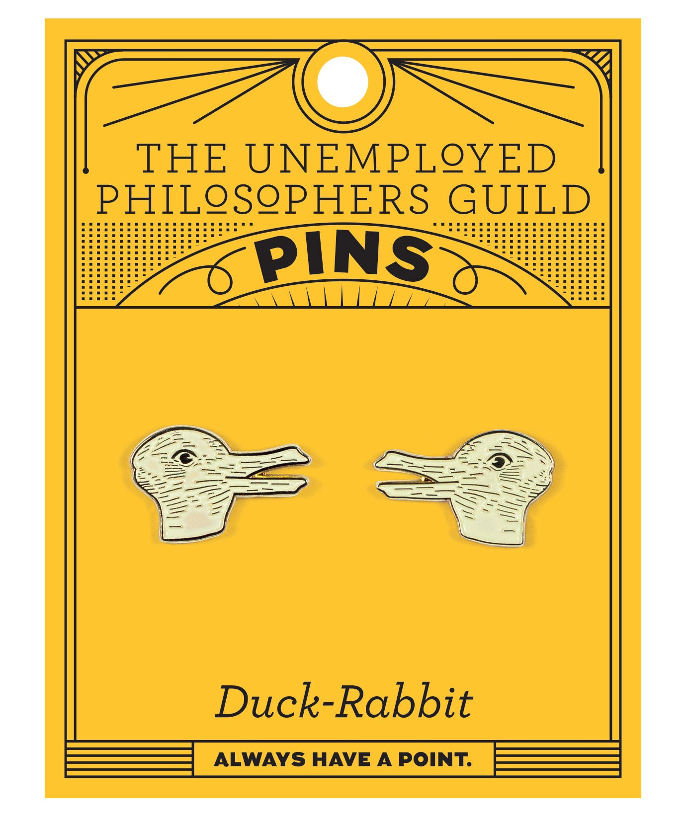 Duck Rabbit Pins - The Unemployed Philosophers Guild