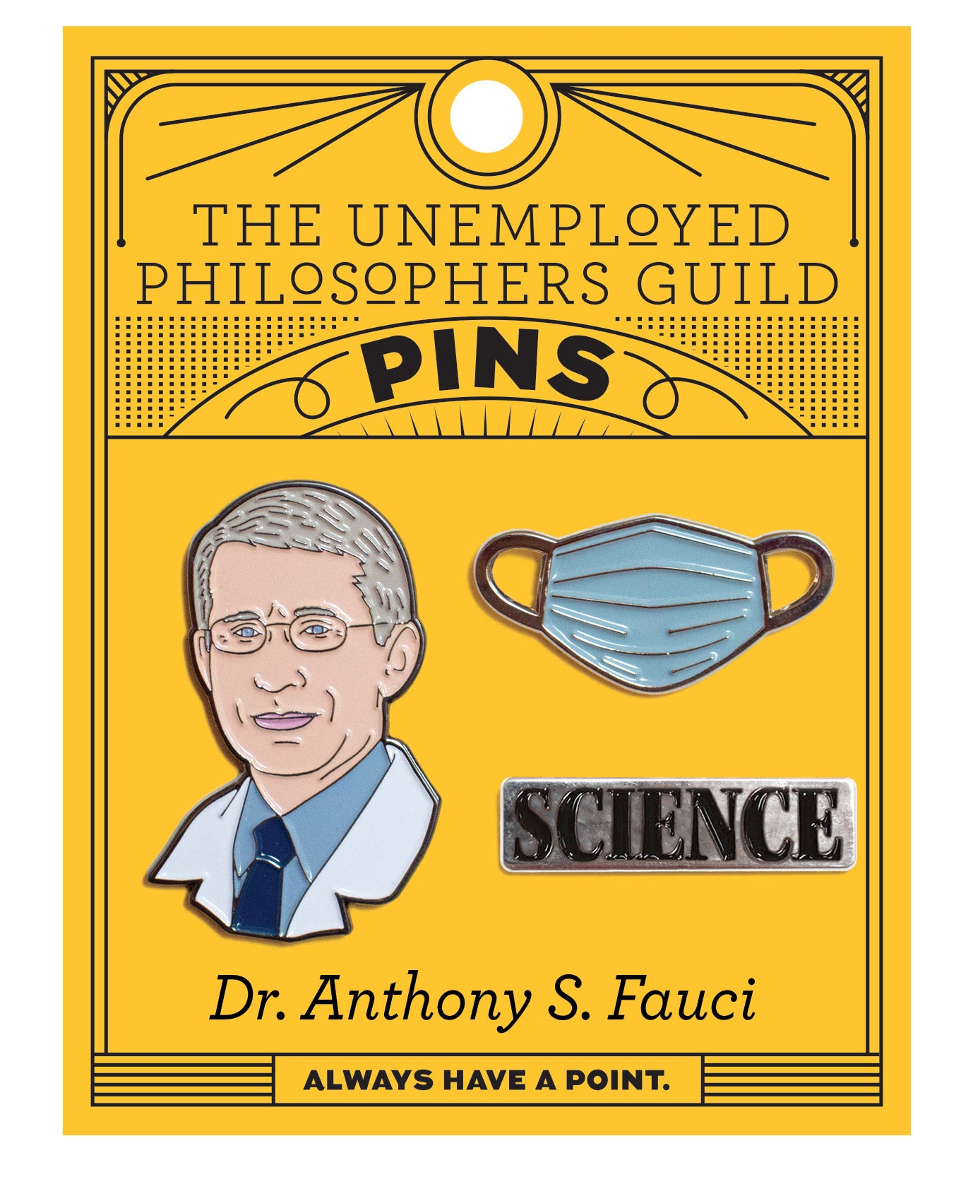 Dr. Anthony S. Fauci Pin Set