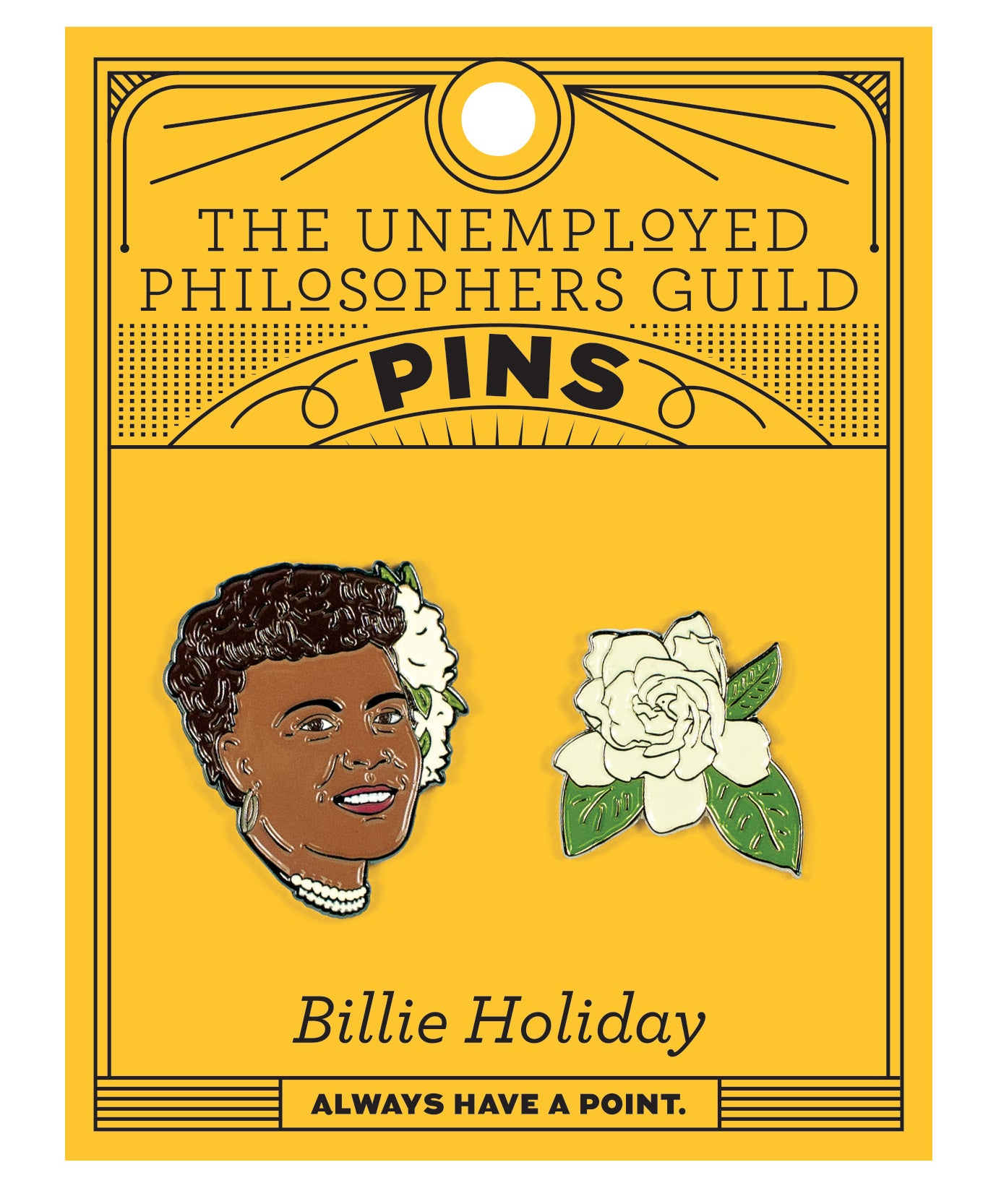 Billie Holiday & Gardenia Pins