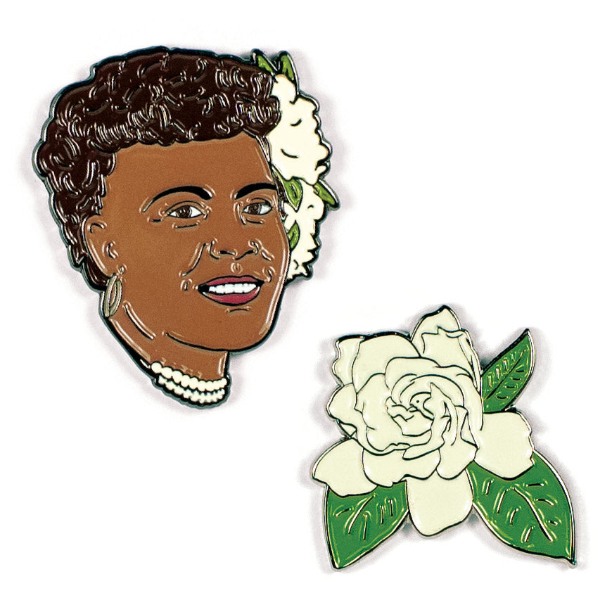 Billie Holiday & Gardenia Pins - The Unemployed Philosophers Guild