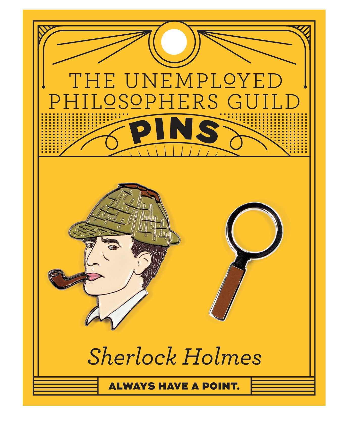Holmes & Magnifying Glass Pins - The Unemployed Philosophers Guild