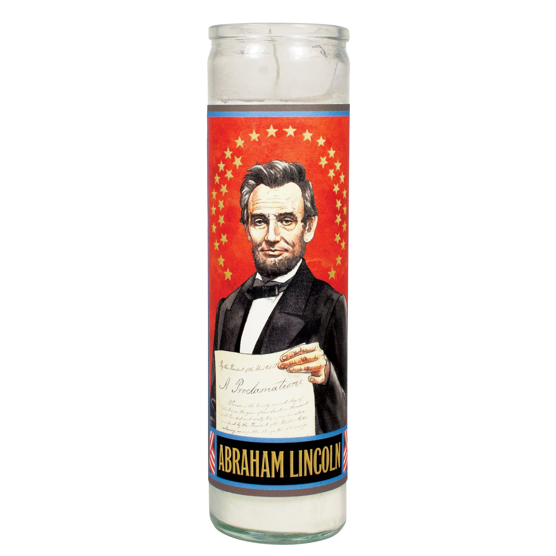 Lincoln Secular Saint Candle - The Unemployed Philosophers Guild
