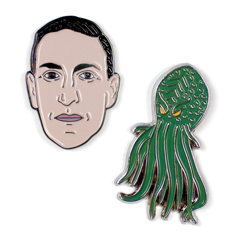 Lovecraft and Cthulhu Pins - The Unemployed Philosophers Guild