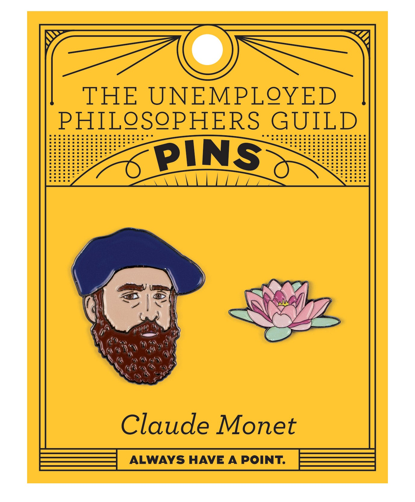 Monet and Water Lily Pin Set - The Unemployed Philosophers Guild