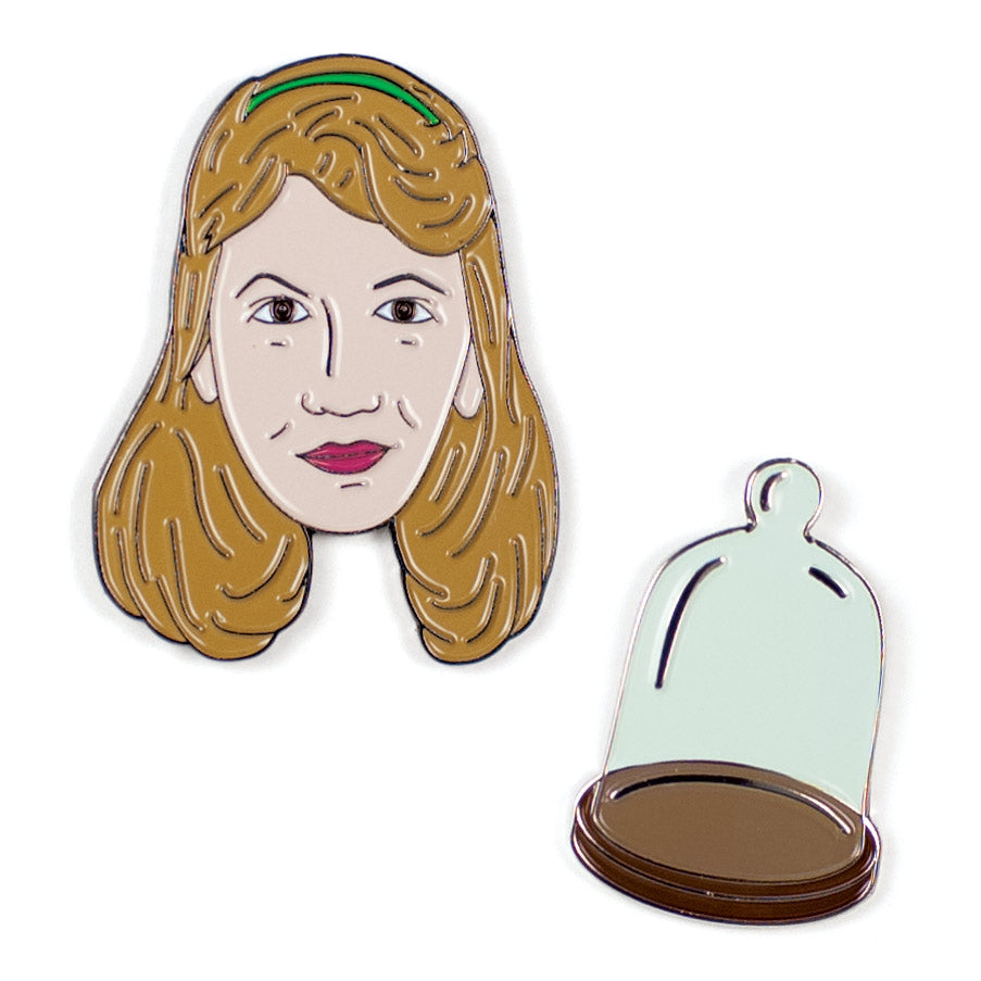 Sylvia Plath and Bell Jar Pins