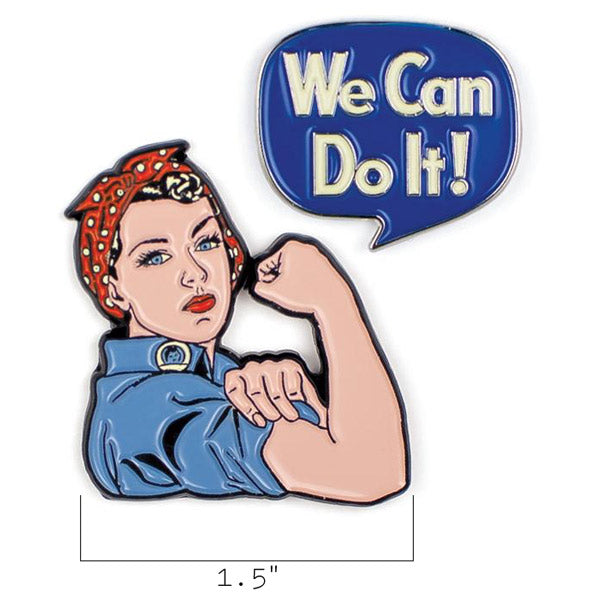 Rosie & We Can Do It Pins