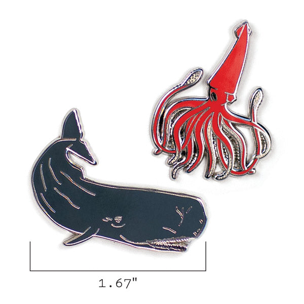 Squid & Whale Pins