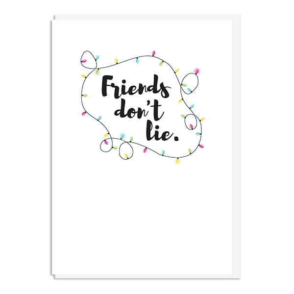 Stranger Things - Friends Don't Lie Quote Minimal Greetings Card
