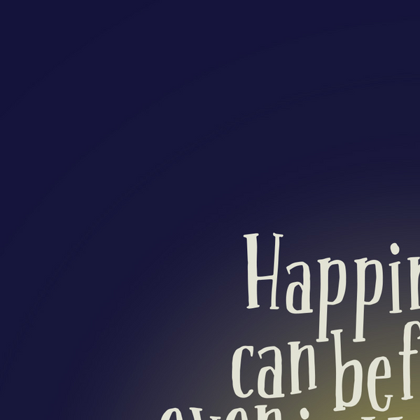 Harry Potter - Happiness Can Be Found Quote Minimal Style Greetings Card
