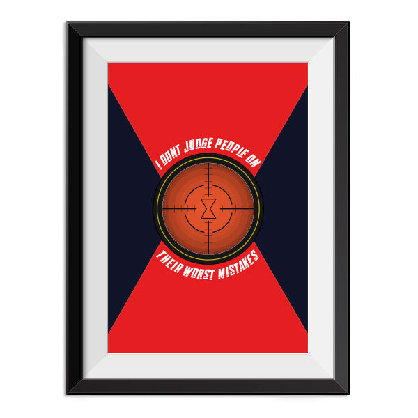 Black Widow - I don't judge people - Quote Minimal Poster Print