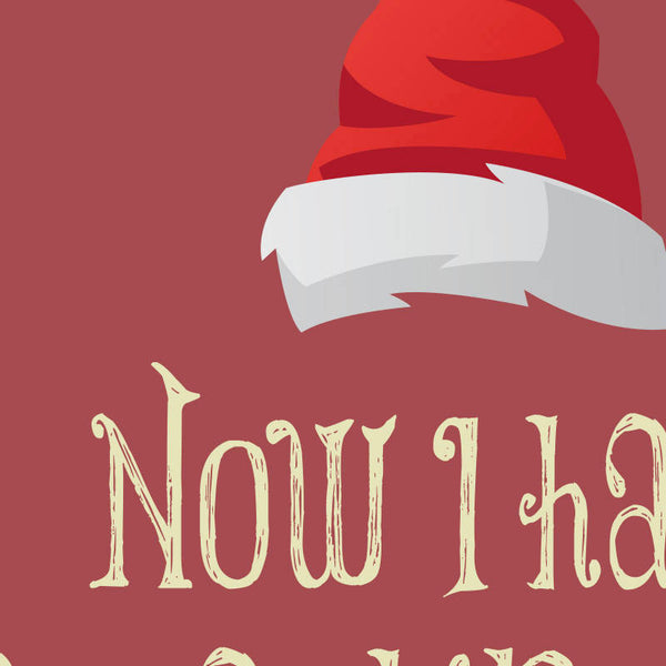 Die Hard - Now I have a machine gun ho ho ho Quote Minimal Style Poster Print