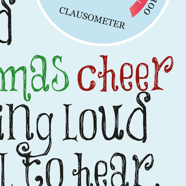 Elf - Christmas Cheer Quote Minimal Style Poster Print