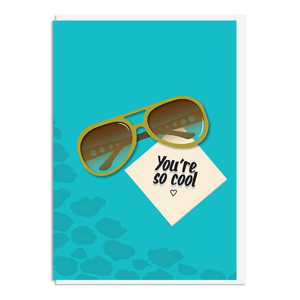 True Romance - You're so Cool Quote Minimal Greetings Card