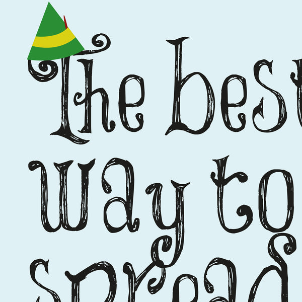 Elf - Christmas Cheer Quote Minimal Greetings Card