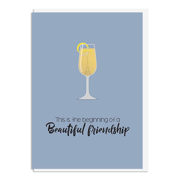 Casablanca - This is the beginning of a beautiful friendship Quote Minimal Style Greetings Card