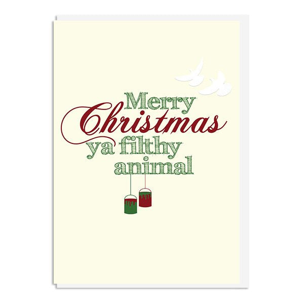 Home Alone - Merry Christmas ya filthy animal Quote Minimal Christmas Card