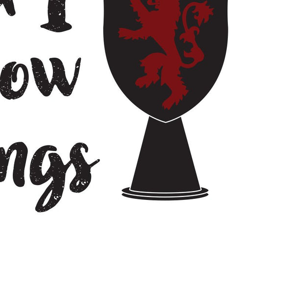 Game of Thrones - I Drink and I Know Things Tyrion Quote Minimal Style Poster Print