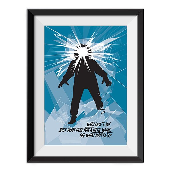 The Thing Poster - Why don't we just wait here for a little while Quote Minimal Style Poster Print