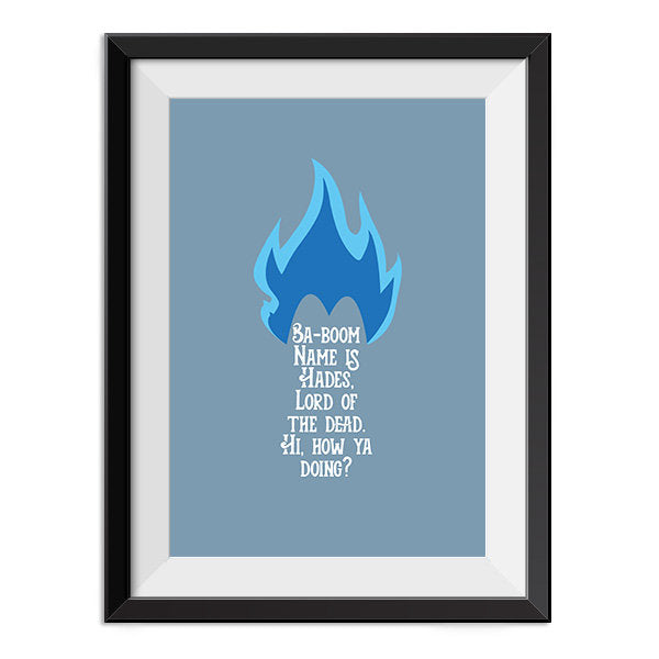 Hercules - Hades How ya doing Quote Minimal Poster Print