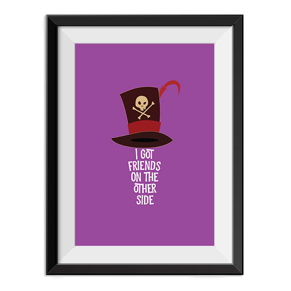 Princess and the Frog - Dr Facilier Quote Minimal Style Poster Print