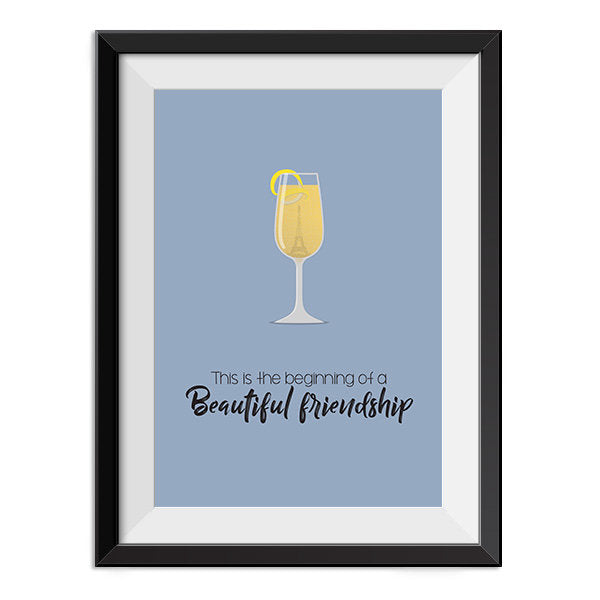 Casablanca - This is the beginning of a beautiful friendship Quote Minimal Style Poster Print