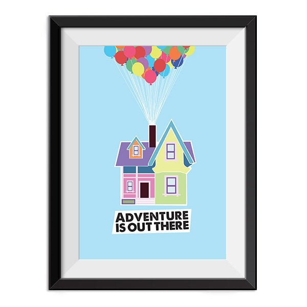 Up - Adventure Is Out There Up House Quote Minimal Style Poster Print