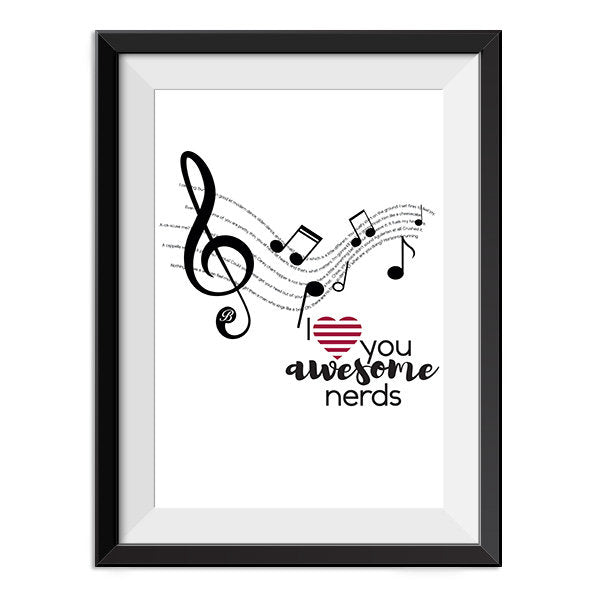 Pitch Perfect - Awesome nerds Quote Minimal Style Poster Print