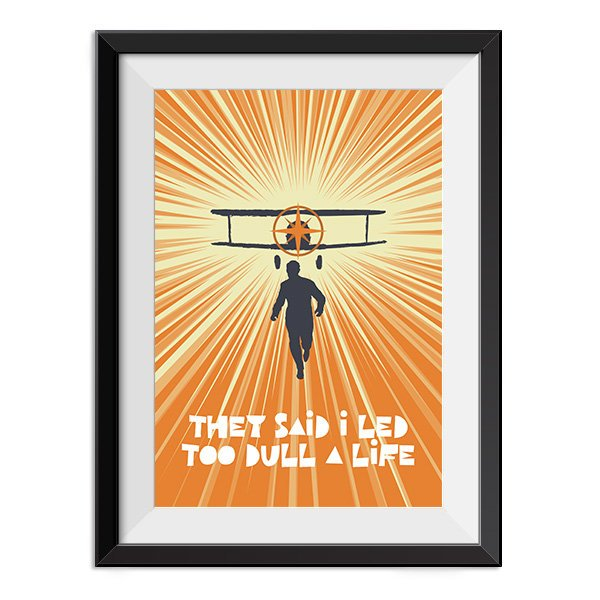 North by Northwest - Too Dull a Life Quote Minimal Style Poster Print