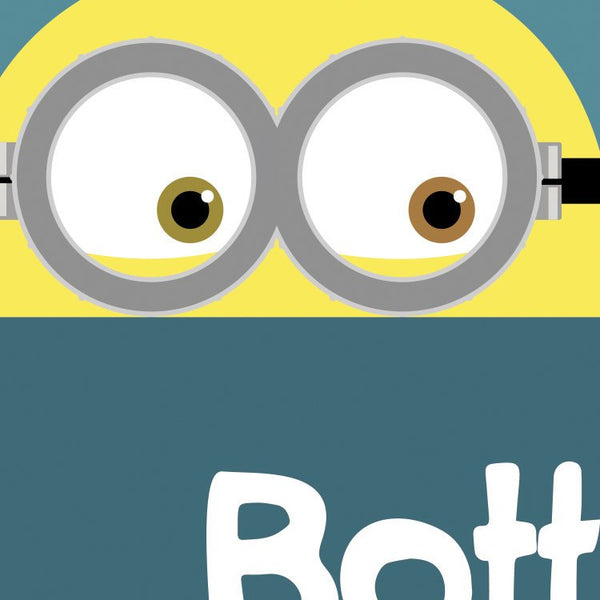 Despicable Me - Minions Bottom Quote Minimal Style Greetings Card